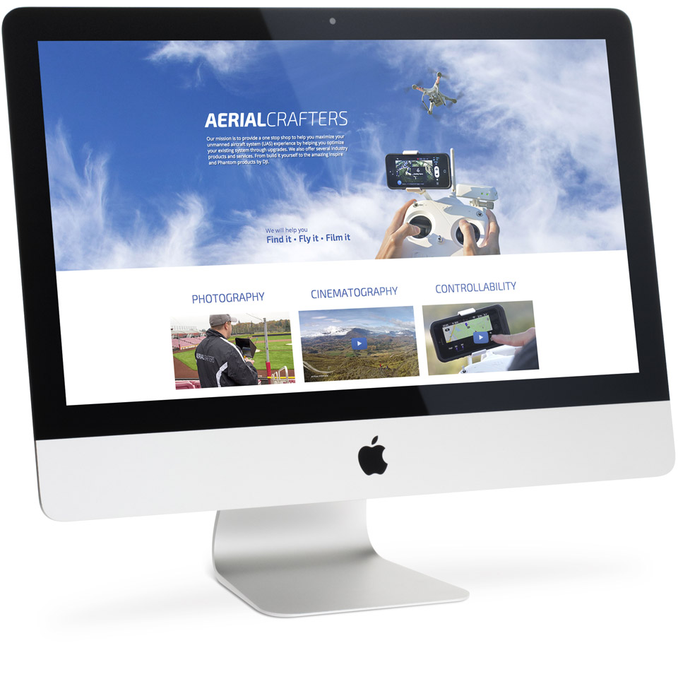 Aerial Crafters Website Design