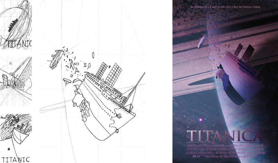 Titanica sci-fi movie poster process